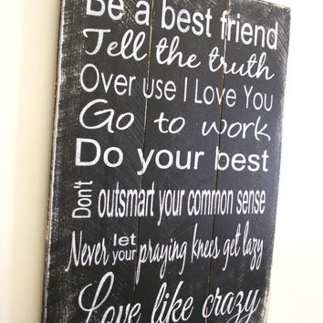 Love Like Crazy Wood Sign Pallet Sign Country Western Sign Western Wedding Sign Western Home Decor Rustic Wood Sign Black White