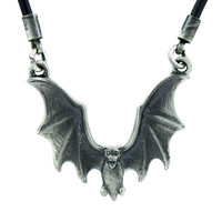 Gothic Vampire Bat Necklace Halloween Occult Deathrock Jewelry
