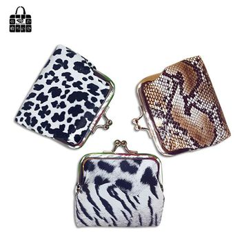 Rose diary new fashion Animal pattern Snake leopard tiger pattern lock short change Female Coin Purse handbag key bag gift