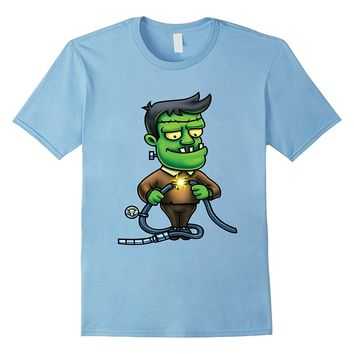 Cartoon Frankenstein Monster Design T-Shirt
