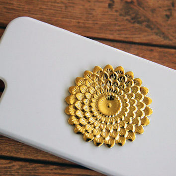 Floral iPhone 5 Case, Vintage, Gold, Flower, Hippie, Tribal, iPhone 4 Case, iPhone 4s Case, Samsung Galaxy S3 Case, Samsung Galaxy S4 Case