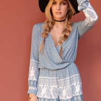 West Coast Wardrobe Harmony Rising Romper in Ice Blue