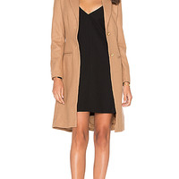 LIONESS Donatella Short Winter Coat in Camel | REVOLVE