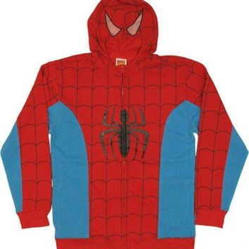 Spider-Man Costume With Mask Spider-Man Marvel Zip Up Hoodie
