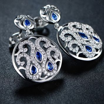 Rhodium Plated stunning CZ Earrings