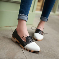 Pointed Toe Lace Up Women Flat Shoes  2842