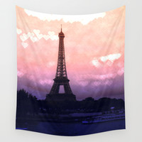 Paris Wall Tapestry by WhimsyRomance&Fun