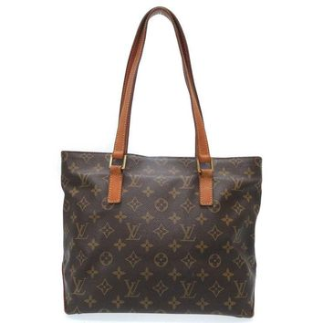 Authentic LOUIS VUITTON Monogram Cabas Piano Shoulder Bag M51148 U1888ZZGB5