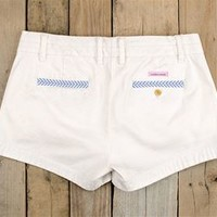 Southern Marsh Brighton Seersucker Chino Shorts in White