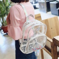 PVC Transparent Mini Backpack