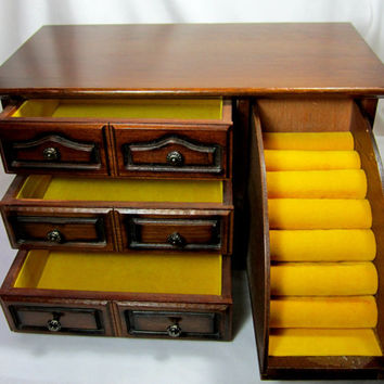 Himark Vintage Wood Jewelry Box Chest Jewelry Storage