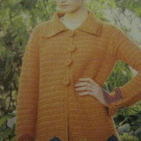 Unique and exquisite crochet jacket!Most adorable jacket you will own!