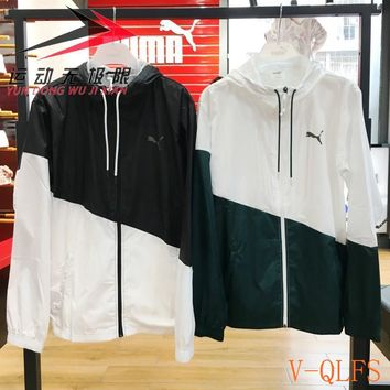 HCXX 19Aug 389 Puma 517354070 Color Matching Hooded Windbreaker Jacket