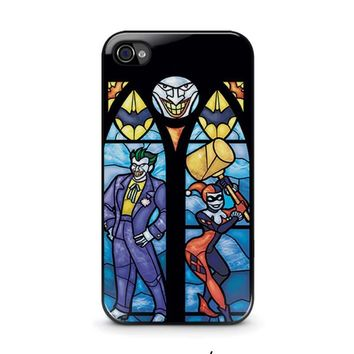 joker and harley quinn art iphone 4 4s case cover  number 1