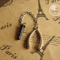 antique silver wishbone dust plug for Samsung Blackberry HTC iPhone 4/4S,iPhone 5