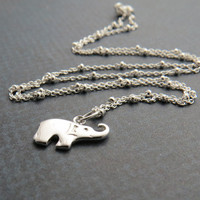CLEARANCE - Tiny sterling silver elephant necklace- SALE