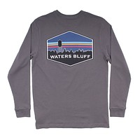 Midnight Tower Long Sleeve Tee in Pepper by Waters Bluff - FINAL SALE