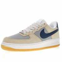 "Nike Air Force 1 Low '07 ""Beige&Navy"" Sneaker 315111-101"