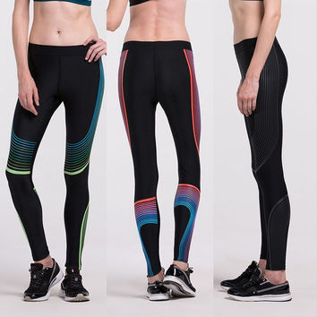 High Waist Stretched Sports Pants Women GYM Fitness Running Tights New Design Yoga Pants Trousers