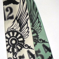 Steampunk Silkscreen Tie by RandomCreation on Etsy