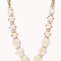 Carved Rosette Necklace
