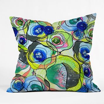 CayenaBlanca Molecular Tension Throw Pillow