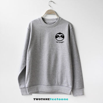 Sloth Running Team Sweatshirt Sweater Unisex