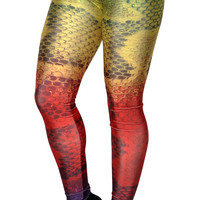 Rainbow Snakeskin Leggings Design 550