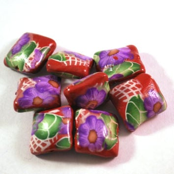 Polymer Clay Beads, Pillow Beads, Polymer Beads, Clay Beads, Handmade Beads, Mini Pillow Beads, Loose Beads, Beads for Sale