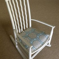 EcoVolveNow Vintage Rocking Chair Nursing Amy Butler Shabby chic