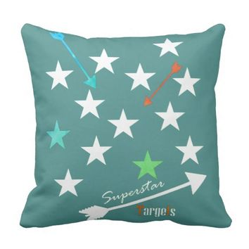 Superstar Targets Star Arrows Throw Pillow Cushion
