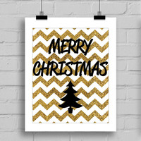 Merry Christmas Themed Wall Art Home Decor, Christmas Theme Print, Merry Christmas Home Decor, PDF/JPG (8x10 Inches)