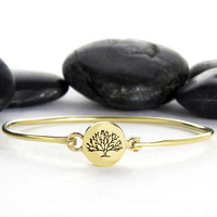 Tree, Tree of Life, Tree-of-Life, Family Tree, Bracelet, Cuff, Maple, Jewelry, House of Metalworks, Minimalist, stack bracelet, Gift Idea