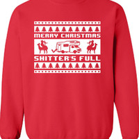 Merry Christmas Shitter's Full National Lampoon's Christmas Movie Inspired Ugly Christmas Sweater Sweatshirt Xmas Funny Mens Ladies ML-187s
