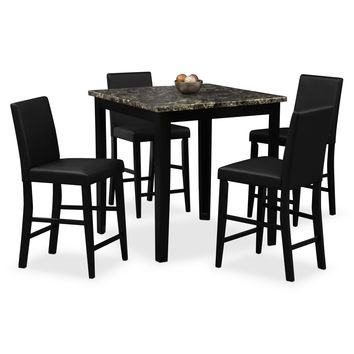 Shadow II Dining Room 5 Pc. Counter-Height Dinette - Value City Furniture