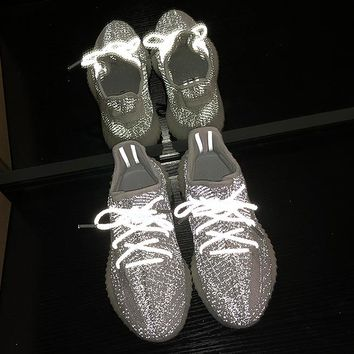 Adidas Yeezy 350V2 BOOST Fashion New Fish Silk White Ash Gym Spo.