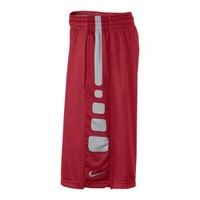 Nike Elite Stripe Men's Basketball Shorts - University Red