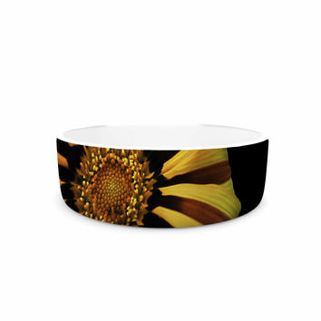 "Nick Nareshni ""Red And Yellow Flower"" Floral Photography Pet Bowl"