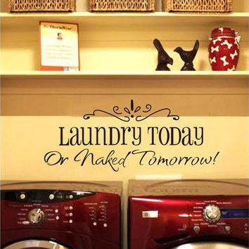 2014 New laundry English Wall Sticker Removable Home Decor Vinyl Art Decals Room Decoration (Size: 1) [8045602695]