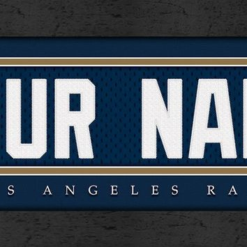 Los Angeles Rams | Jersey Stitch | Personalized | Nameplate Print | Framed | NFL