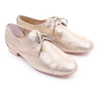 Gold ted baker kape womens lace up brogue by ted baker womens £95.00