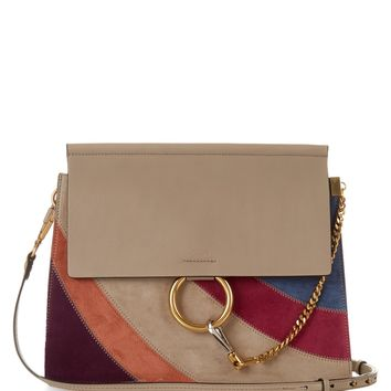 fake handbags in singapore - chloe faye small studded circle suede leather shoulder bag, chloe ...