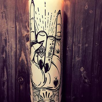 Flash Tattoo Art, You Rock, Tattoo Art, Hipster, Home Decor, Rock On, Scented  Candle, Prayer Candle, Candle, Gift Idea, Gifts for Him,