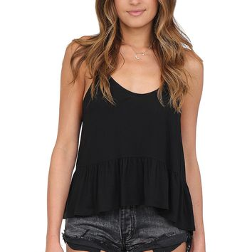 Black Ruffle Tank at Blush Boutique Miami - ShopBlush.com : Blush Boutique Miami – ShopBlush.com