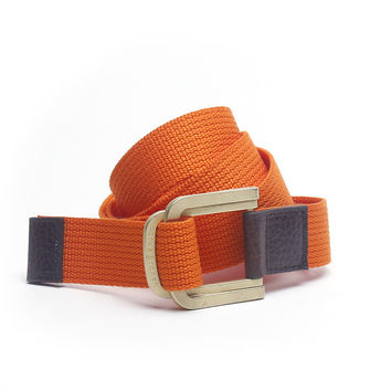 Gold Buckled Solid D-Ring Belt