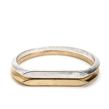 Silver And Gold Cuff Bangles