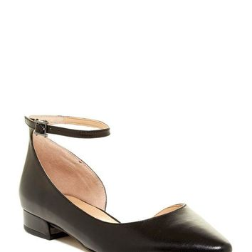DCCKHB3 Franco Sarto | Slide Leather Ankle Strap Flat