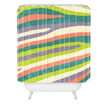 Nick Nelson Fruit Stripes Shower Curtain