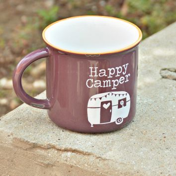 Natural Life Camp Mug - Eggplant Camper
