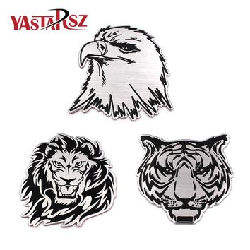 Car Decoration Animal Stickers Logo Metal 3D Lion Eagle Tiger Emblem Badge Decal Truck Auto styling Car Styling Car Accessories